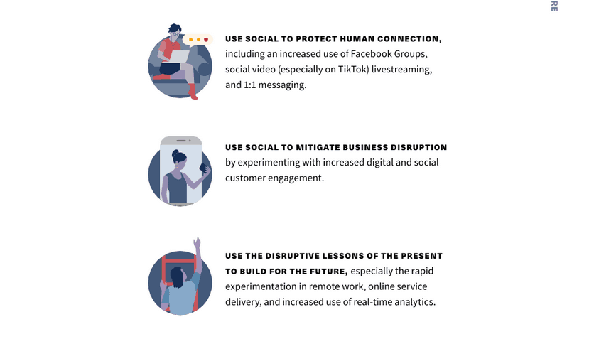 3 areas of digitization Hootsuite